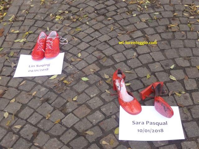 25 novembre cesano boscone una lunga sciarpa scarpette rosse per la giornata contro la violenza sulle donne video e foto mi lorenteggio com giornata contro la violenza sulle donne
