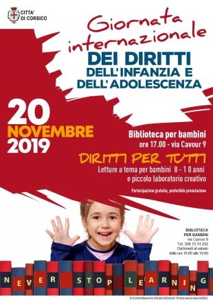 Corsico. Giornata internazionale dei diritti dell'infanzia e dell'adolescenza - Mi-Lorenteggio